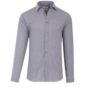 Calvin Klein Slim Fit Striped Blue Button Up Shirt